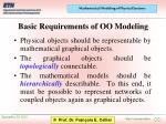 basic requirements of oo modeling