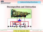 decomposition and abstraction