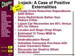 lojack a case of positive externalities