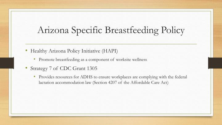 Arizona specific breastfeeding policy