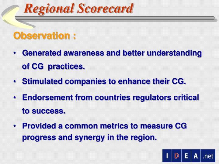 Regional Scorecard