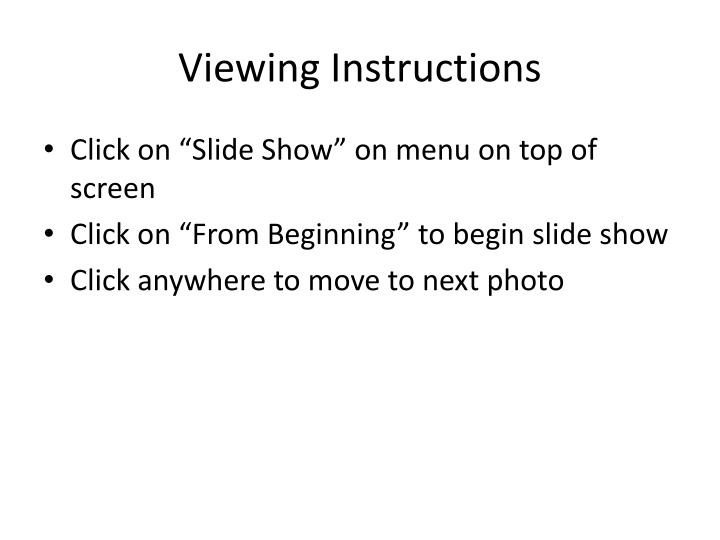 viewing instructions n.