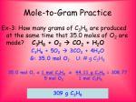 mole to gram practice1
