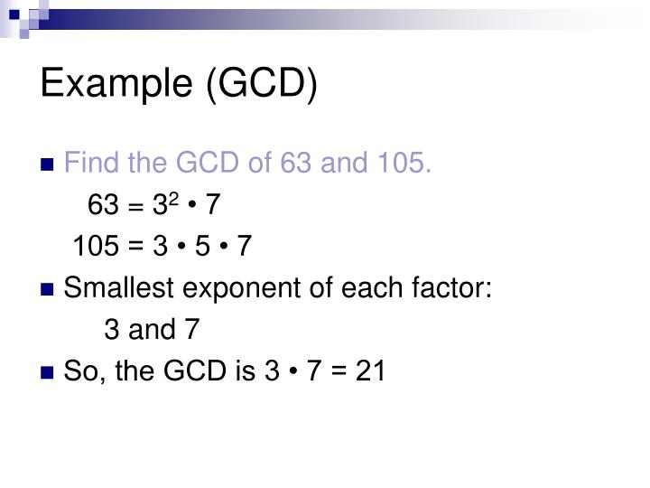 Example (GCD)