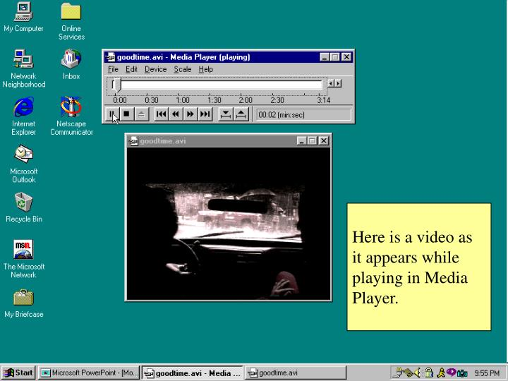 Here is a video as it appears while playing in Media Player.