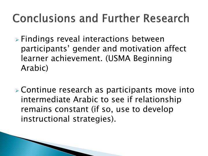 Conclusions and Further Research