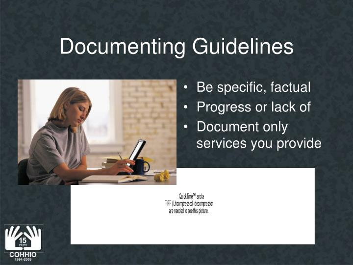 Documenting Guidelines