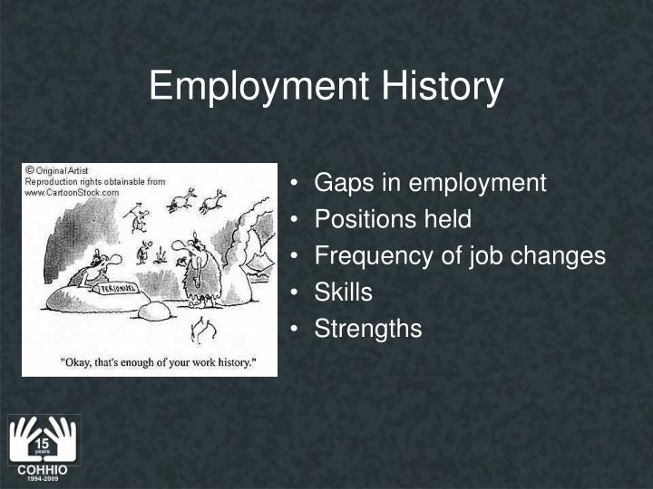 Employment History