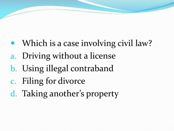 Which is a case involving civil law?