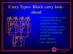 carry types block carry look ahead