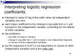 interpreting logistic regression coefficients