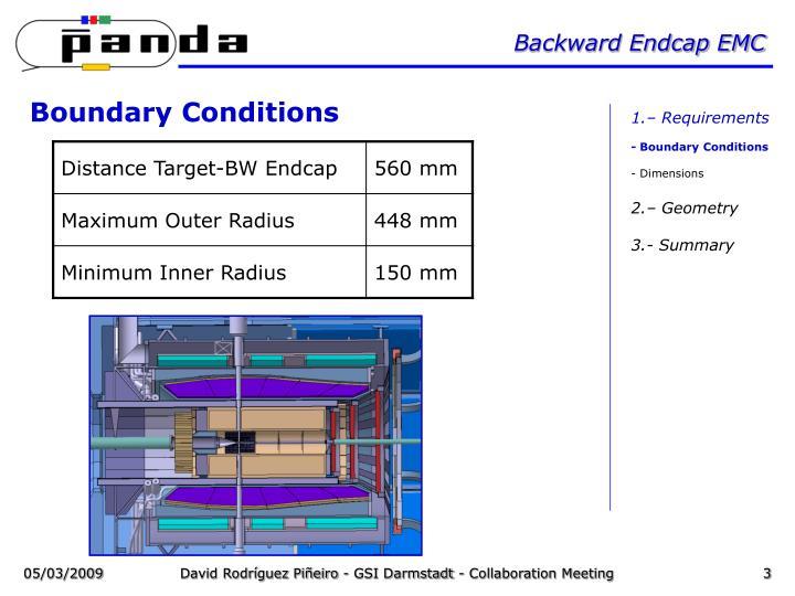 Backward endcap emc1