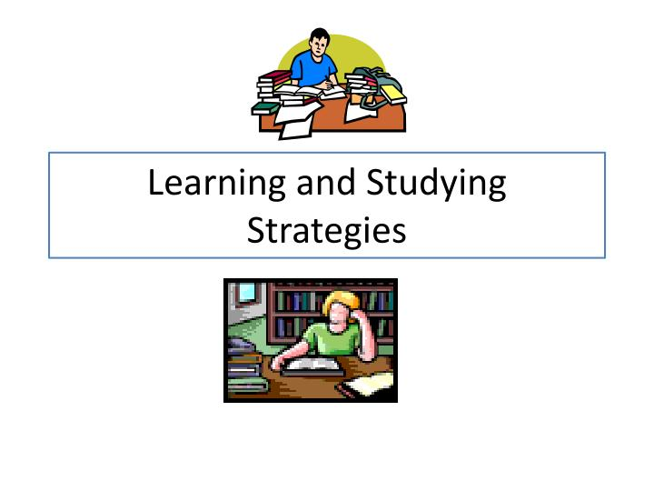 learning and studying strategies n.