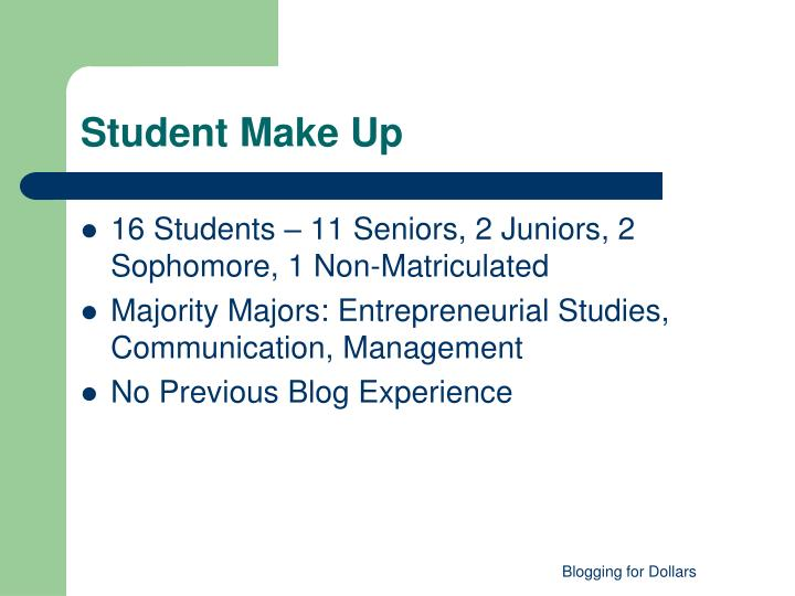 Student Make Up
