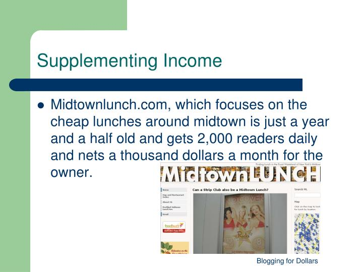 Supplementing Income