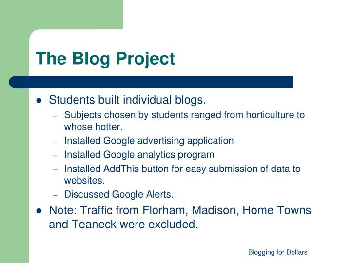 The Blog Project