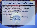example dalton s law