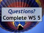 questions complete ws 5