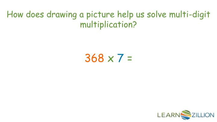 How does drawing a picture help us solve multi-digit multiplication?