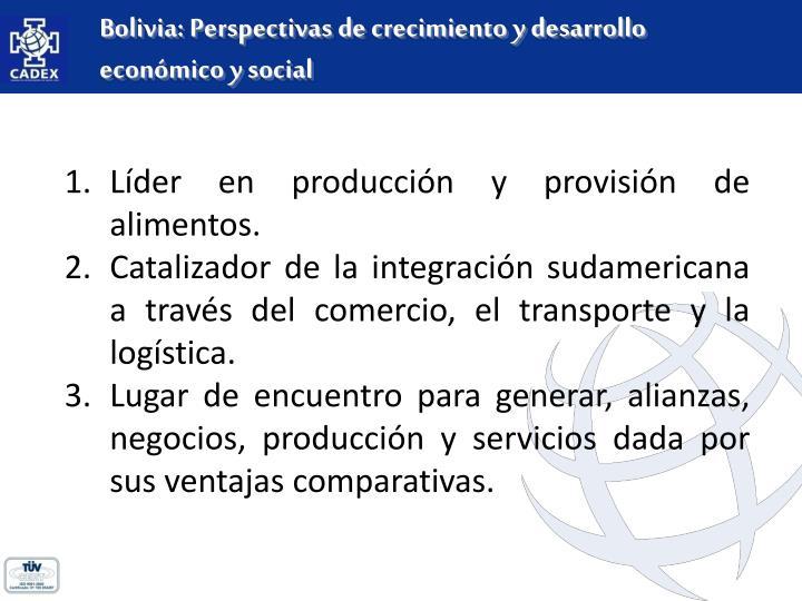 Bolivia: Perspectivas de crecimiento y desarrollo económico y social