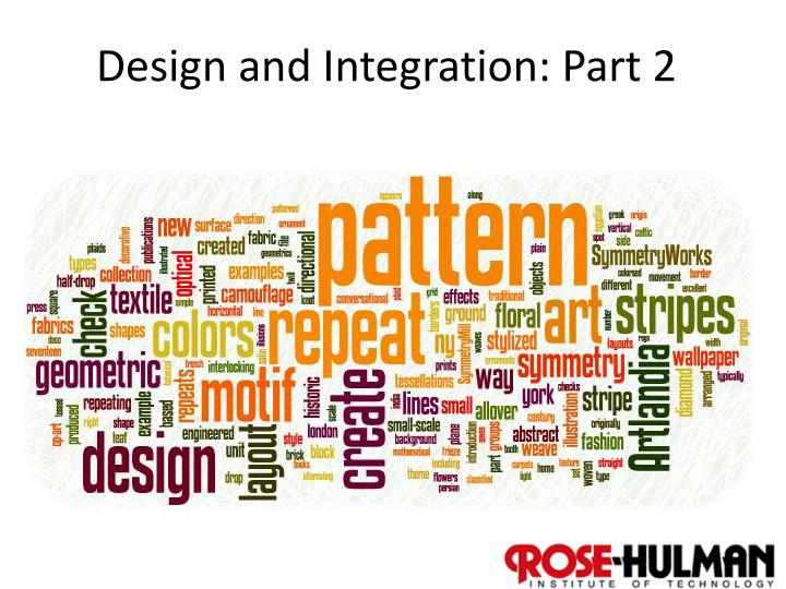design and integration part 2 n.