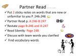 partner read 15 minutes