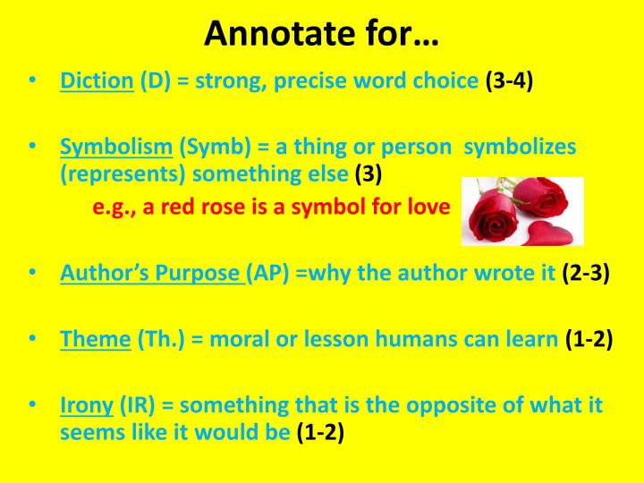 Annotate for…