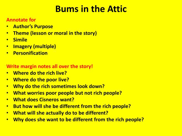 Bums in the Attic