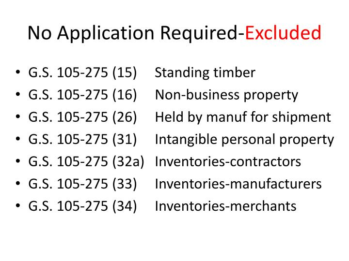 No Application Required-