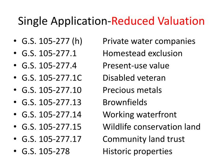 Single Application-