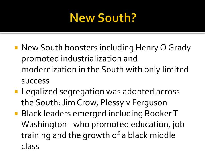 New South?