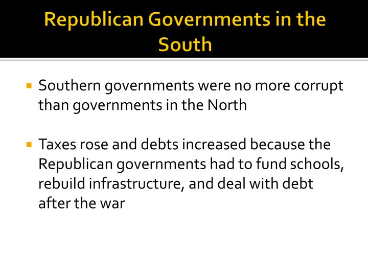 Republican Governments in the South