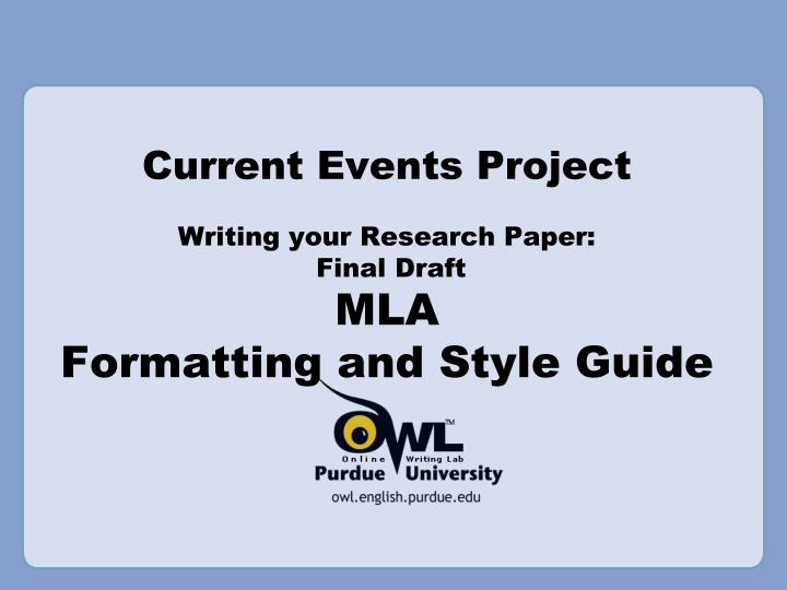 mla powerpoint research paper Unpublished conference paper like a normal conference proceedings, we want to include the name of the entire proceedings, and if there is a specific presentation or paper being cited, include this information as well.