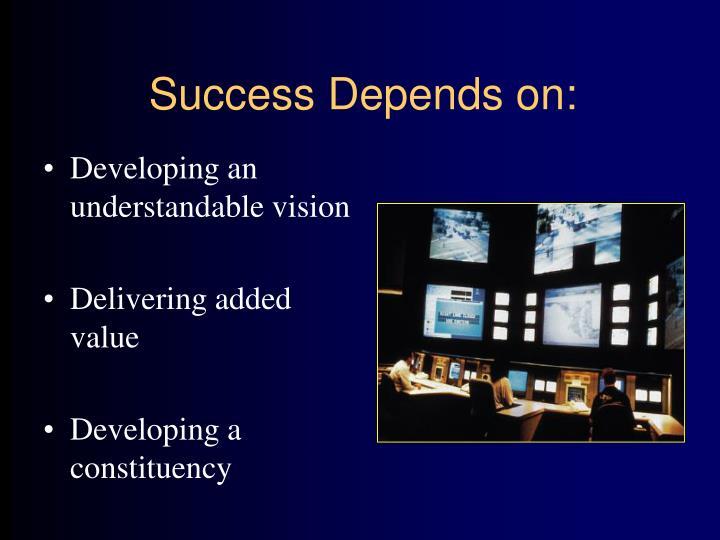 Success Depends on: