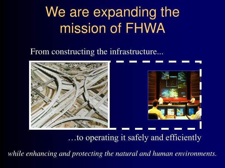 We are expanding the mission of fhwa