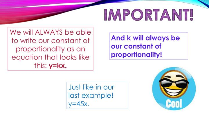 Ppt Constant Of Proportionality Powerpoint Presentation Id6549339