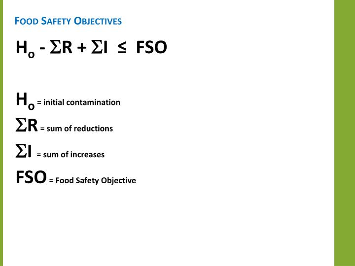 Food Safety Objectives