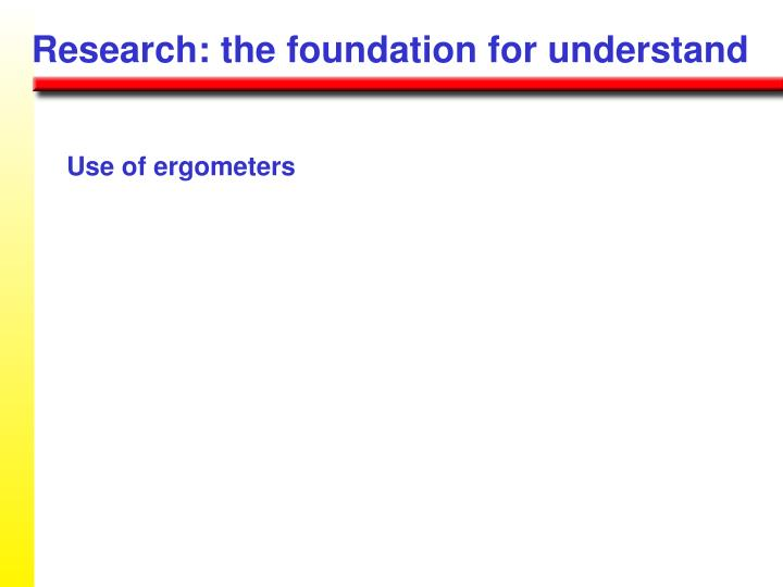 Research: the foundation for understand