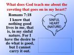 what does god teach me about the coveting that goes on in my heart