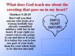 what does god teach me about the coveting that goes on in my heart4