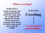 what is coveting