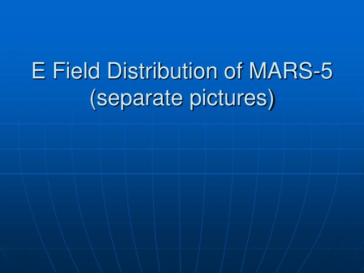 E Field Distribution of MARS-5