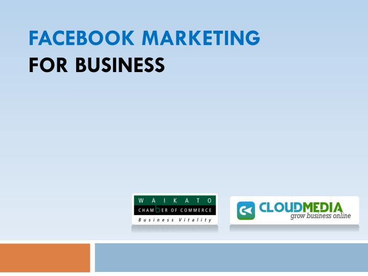 facebook marketing for business n.