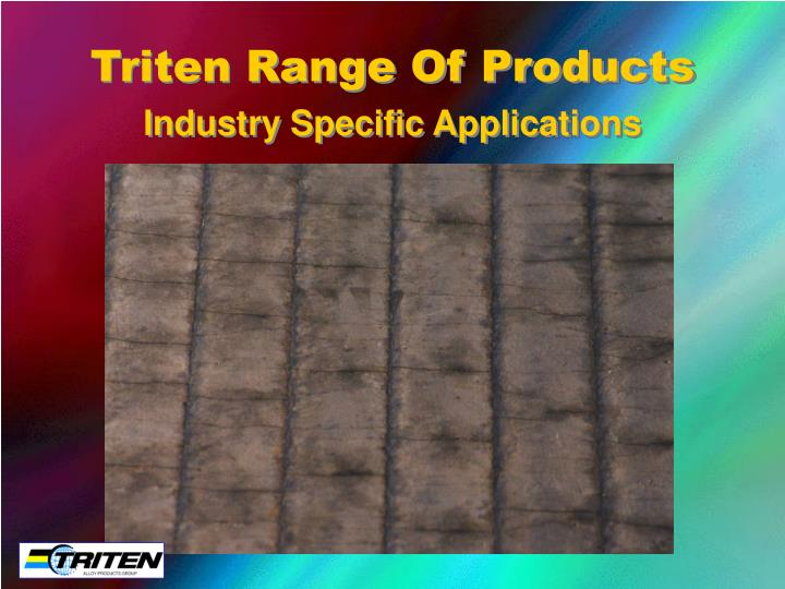 triten range of products n.
