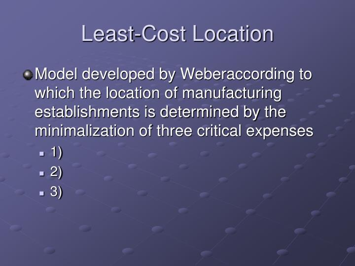 Least-Cost Location