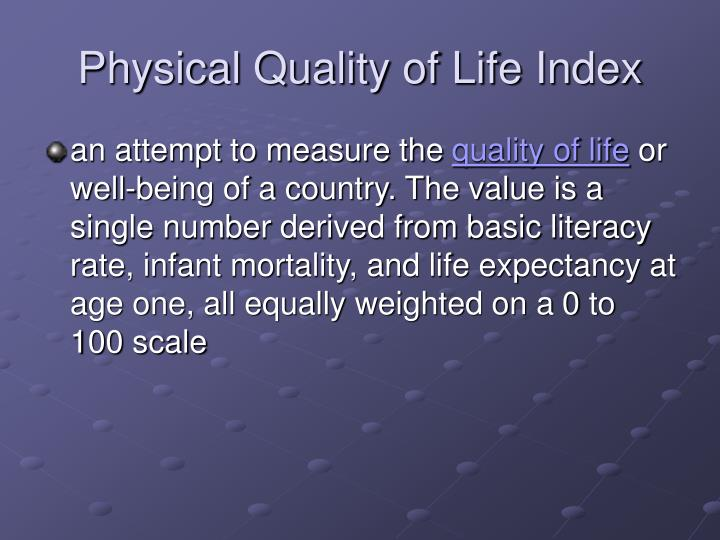 Physical Quality of Life Index