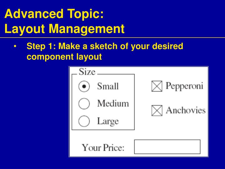 Advanced Topic:
