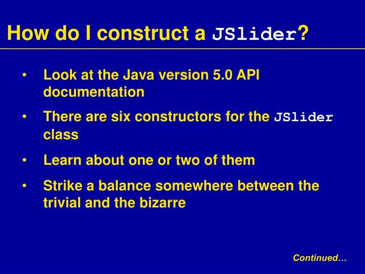 How do I construct a