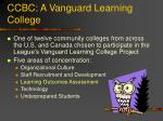 ccbc a vanguard learning college
