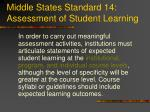 middle states standard 14 assessment of student learning1